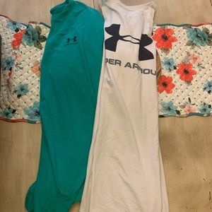 Lot of 2 2XL Under Armour t-shirts